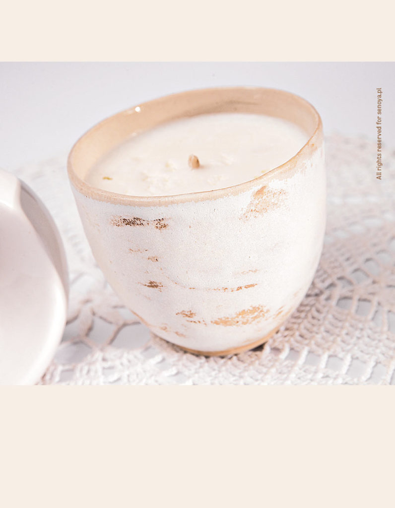 Świeca sojowa ceramiczna