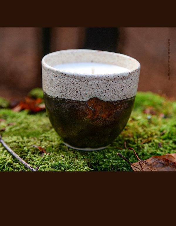 Świeca ceramiczna aromatyczny cynamon