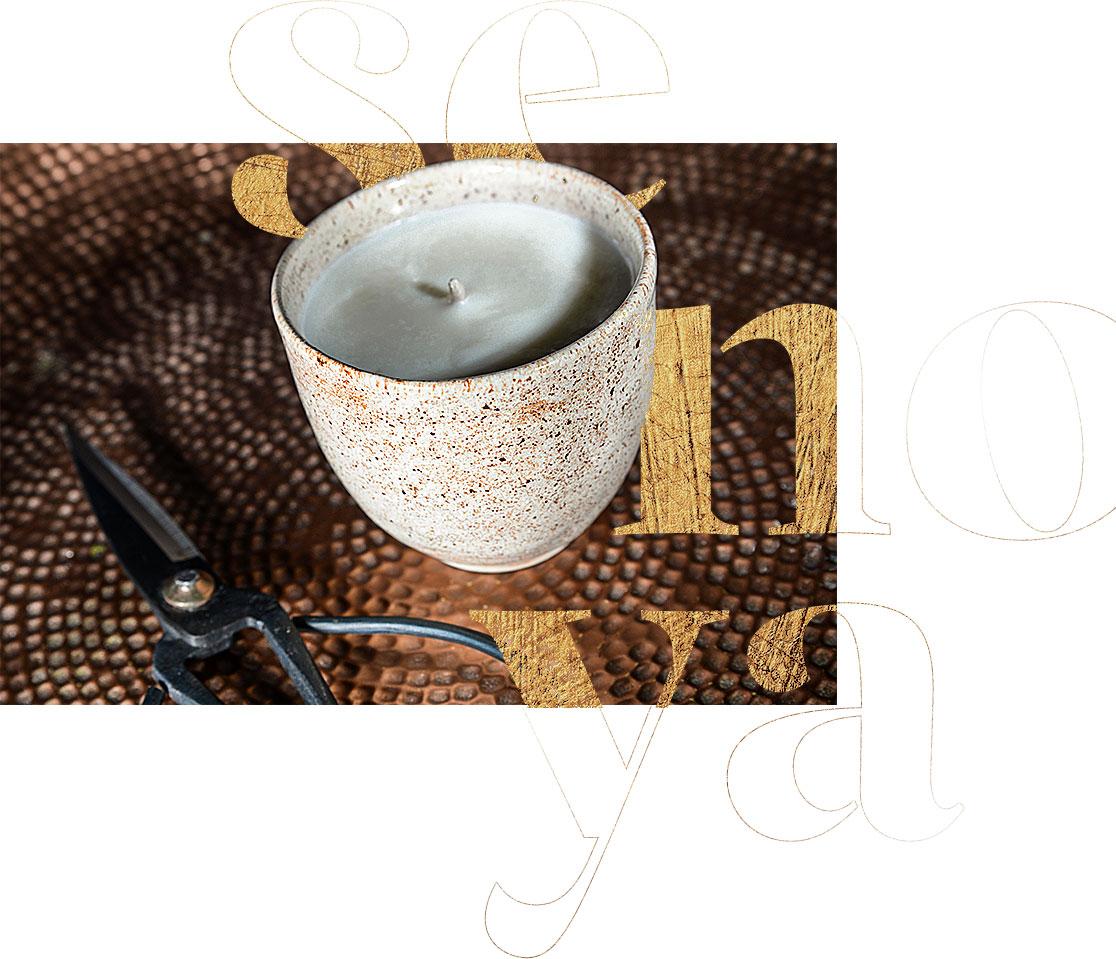 świeca sojowa ceramiczna ekologiczna Senoya