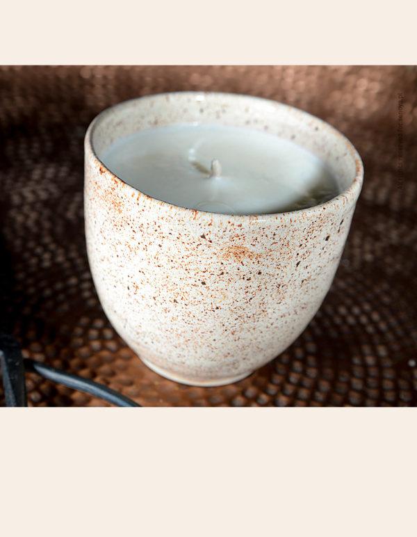 świeca ceramiczna gorzka czekolada